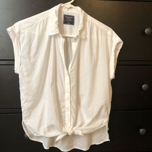 Abercrombie & Fitch Tops - New A&F button top